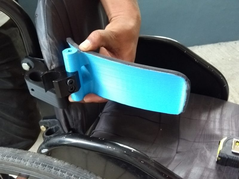 A 3D printed postural support for a manual wheelchair Cover Image